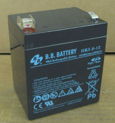 B.B Battery HR5.8-12 12v Lead Acid Replacement Batteries for UPS